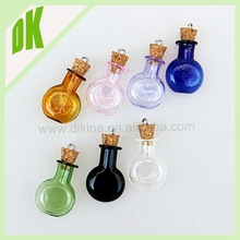 Small Glass Bottles With Corks. Decorative Glass Containers. Bottle With Cork. Herb Jars. *** wholesale mini glass water bottle