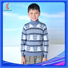 Turtle Neck Boys Pullover Sweater Wave Knitting Pattern