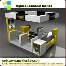 Mall mobile phone display cabinet and mobile phone kiosk design for sale.