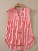 Garment wash new style office latest shirt designs blank ladies kurta designs