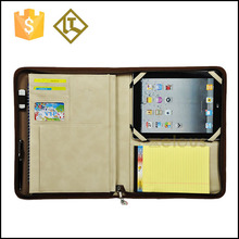 New design leather folder for travel,genuine leather file folder,leather portfolio case