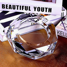 Wholesale newest exalted crystal glass custom ashtray for home decoration