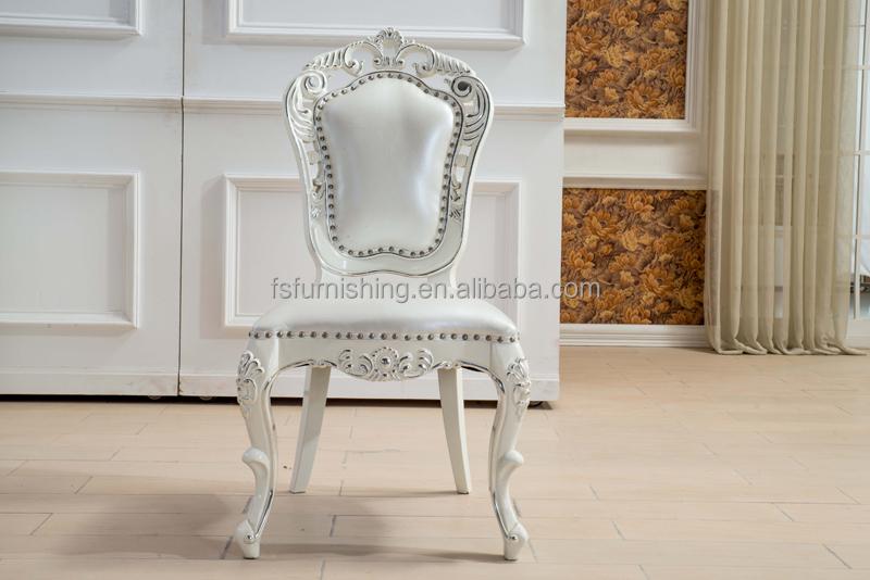 Kb098 lujo brillante blanco hoja de plata glass top 8 sillas mesa ...