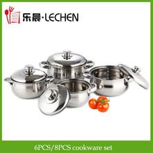 Cheap 6PCS/8PCS Stainless Steel Cookware Set Stock Pot Cooking Pot Saucepan Kitchen Ware