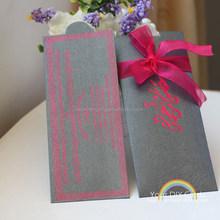 2014-laser cut elegant invitation card in paper craft