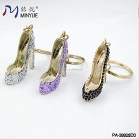 Charming alloy high-heel shoes key chain