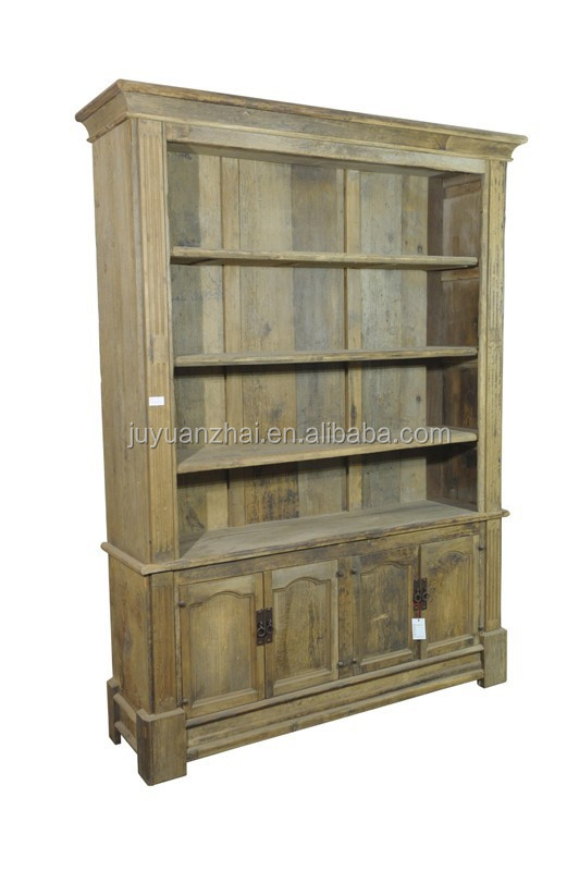 Cheap european style antique furniture recycled wood bookcase old solid wood bedroom furniture for Cheap solid wood bedroom furniture