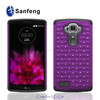 Rich experience silicone phone cover for LG g4 diamond case