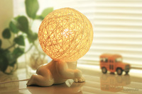 new arrived baby shaped white ceramic table lamps for sale