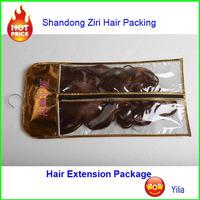 2015 Promotional cheap eco-friend pvc hair extension bag/ hair clip in hair extension bag