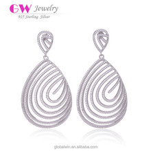 Brand Name 925 Sterl Earring Hollow New Style Earrings