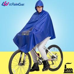 Adult waterproof reusable bicycle rain protection/bicycle rain poncho