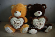 HI CE plush famous black bears with heart