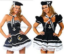 Sexy Womens Sailor Fancy Dress Costume Outfit Uniform Lingerie Hen Party BWG3046