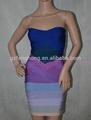 2015 venta caliente muti color de moda sin tirantes del vestido del vendaje gota del vestidos de novia