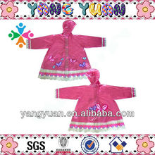 pink rain skirt polyester with print lace edge sewing rainwear