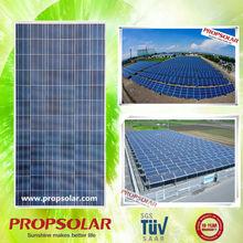 Propsolar solar panel transparent made in china crystaline with TUV, IEC,MCS,INMETRO certificaes (EU anti-dumping duty free)