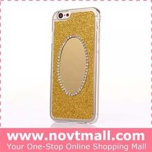 Hot sale bling glitter mirror Bling Phone Case For Mobile Phone for apple 6 4.7