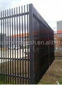 6 foot high dupont powder coated aluminum fence with high quality (manufacture)