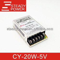 High quality CY-20-5 20w 5v constant voltage 4a Single output ,cctv switch power supply