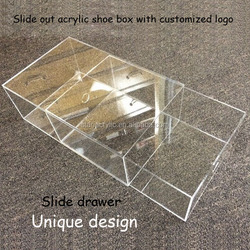 Acrylic Clear Container Store, Acrylic Sneaker Box ,Clear Shoe Boxes with Lid