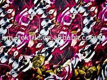 2012 new design fashionable printed chiffon fabric