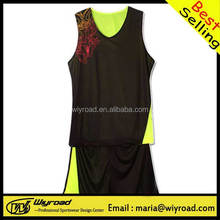 Accept sample order kids basketball wear/basketball black uniform/basketball team uniforms reversible