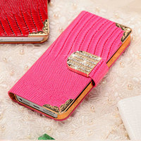 Wallet card-slot PU leather pouch bag for iphone 5/5S