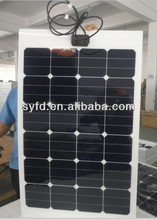 75w cheap Sunpower Flexible solar panel (CE/TUV/ISO approved)