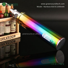 best electronic cigarette GS Rainbow EGO II 2200mah e cigarette china