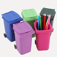 Plastic Desktop Recycle Mini Trash Can Pen Holder