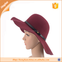 Lady natural color felt hats to decorate ladies beach hats
