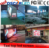 Shenzhen Oscarled HD Outdoor Taxi Top P5 led display screen for Advertising!!!