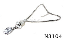 N3104 Charming Fashion Silver Crystal Pendant Necklace