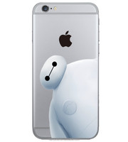 Baymax Big H ero Case For iPhone 6 6G 4.7inch 2015 New Cartoon Movie Clear PC Cover For iPhone 6
