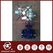 Electric Actuator Ball Valve Alloy Steel metal seal 600LB