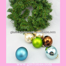 Low price christmas glass ball decorations ,hanging Christmas glass balls in 2015