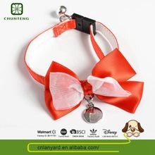 Oem Design Pets Accessories Cat Collars Bow For Dog
