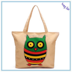 Woman casual handbags plain canvas tote bag