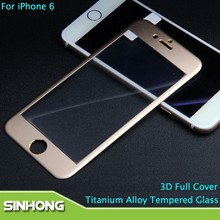 For iPhone 6 Full Cover Tempered Glass,Titanium Alloy Tempered Glass Full Screen For iPhone 6