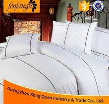 China Hotel Supplier Embroidery Cotton Hotel Bedding Set Quilt Cover Pillow Cases Hotel Duvet Covet Set