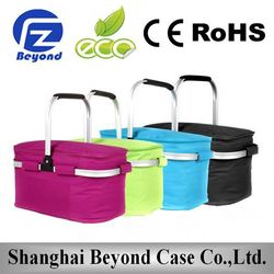 TOP Selling Portable Outdoor fabric cooler bag with steel stand frame