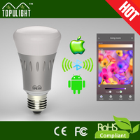 Bluetooth wireless control multicolor 7w led bulb light led smart lighting bulb