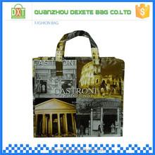 Wholesale sale zipper superior PP woven folding bag shopping
