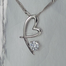 silver jewelry party, heart shape pendant jewelry silver 925