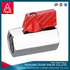 red aluminum handle mini brass ball valve