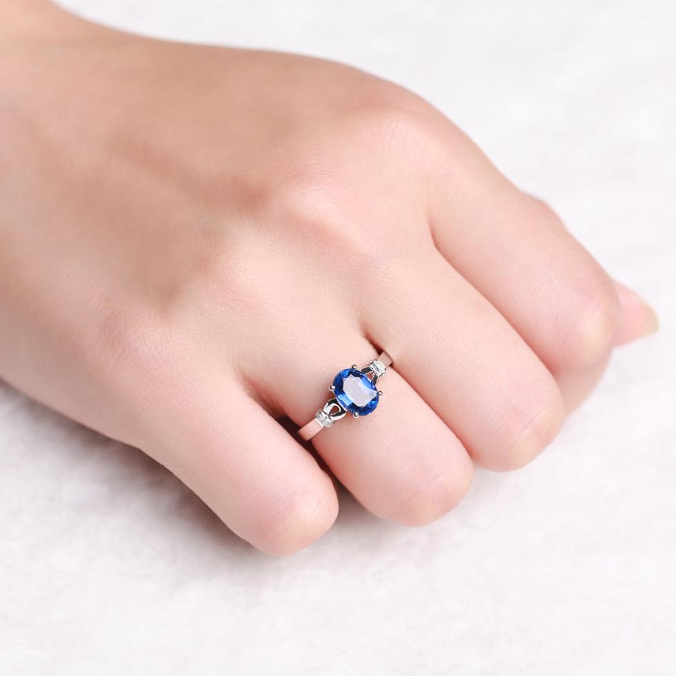 2018 2014 New Natural Kyanite 18k White Gold Gvbori Brand Women Ring ...