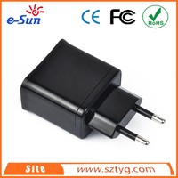 Black Output 5V 3.1A Dual USB Wall Charger Designed for Apple and Android Devices