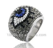 Hot sale crystal ring envy eye crystal ring