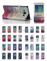 Window view PU leather flip cover for Samsung Galaxy A5 A500 A500F 16 Styles